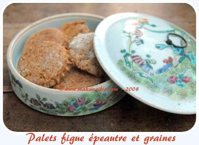 biscuits à l'épeautre, aux figues et aux graines
