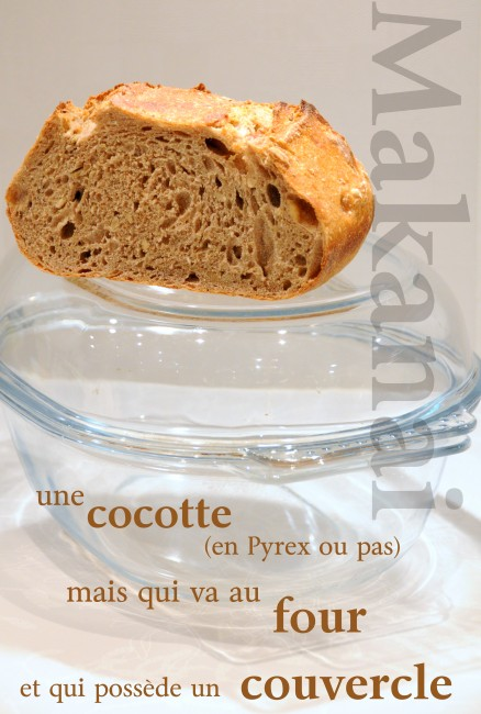 Pain au levain simple en cocotte