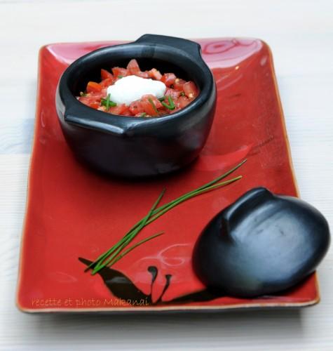 fondue d aubergines sur lit de quinoa la noix de cajou. Black Bedroom Furniture Sets. Home Design Ideas