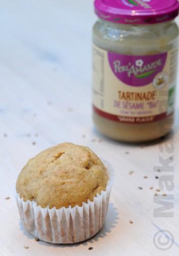 muffin-au-levain-tartinade-sesame-banane