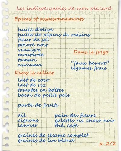 Liste de courses alimentaires - Liste de courses indispensable ...