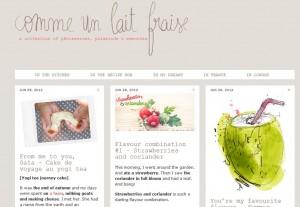 Blog Comme un lait fraise (capture d'écran)