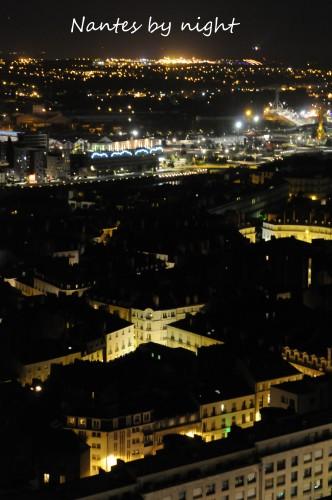 Nantes by night, du haut de la tour de Bretagne, Juillet 2012