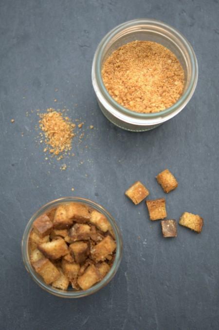 Chapelure et croûtons sans gluten
