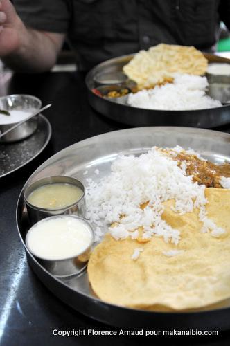 Le délicieux n'est pas complexe. Mais il est réfléchi. Kérala, Inde du Sud, Février 2011
