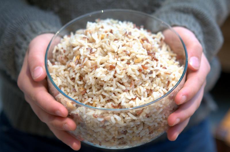 m lange montagnard de riz thai 1 2 complet quinoa et graines de courgemakanai. Black Bedroom Furniture Sets. Home Design Ideas