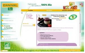 Capture d'écran du site Danival