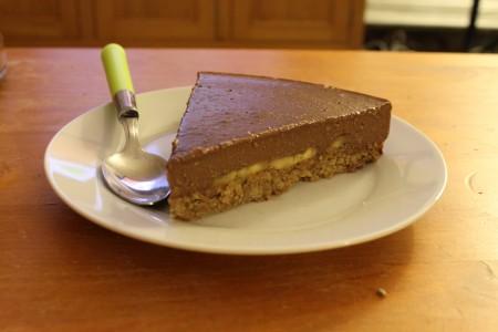 La tarte chocolat et bananes de Benjamin