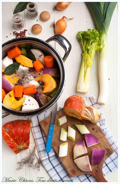Poule au pot cuisson basse température