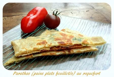 Parathas (pains feuillletés indiens) au roquefort