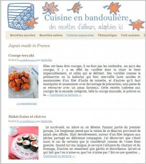 Cuisine en bandoulière