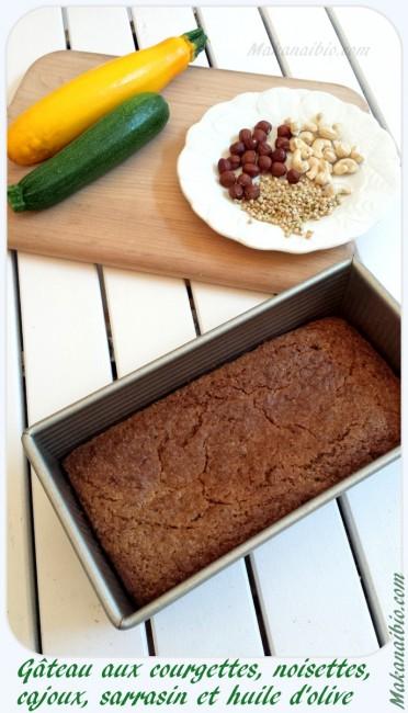 Gâteau fondant courgettes et noisettes