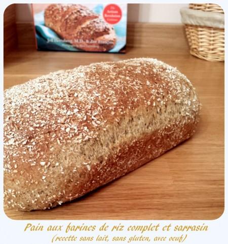 Pain sans gluten riz et sarrasin