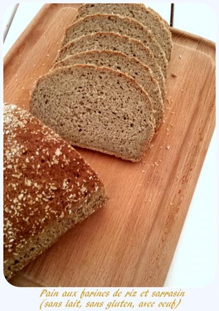 Pain sans gluten aux farines de riz complet et sarrasin