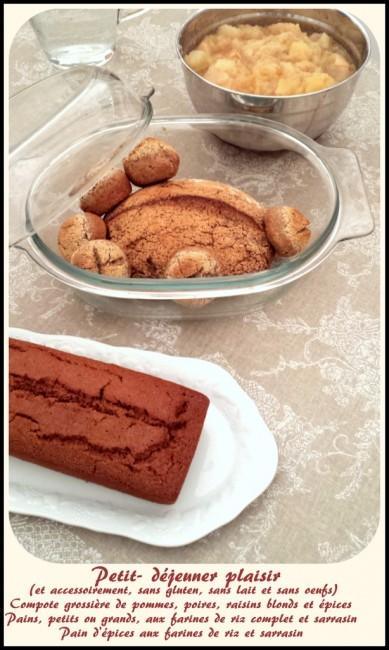 Des idées pour un petit déjeuner plaisir, sans gluten, sans lait et sans oeufs