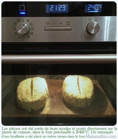Pâte à pain aux graines 100% farines SG, façonnée, incisée et enfournée - Makanaibio.com