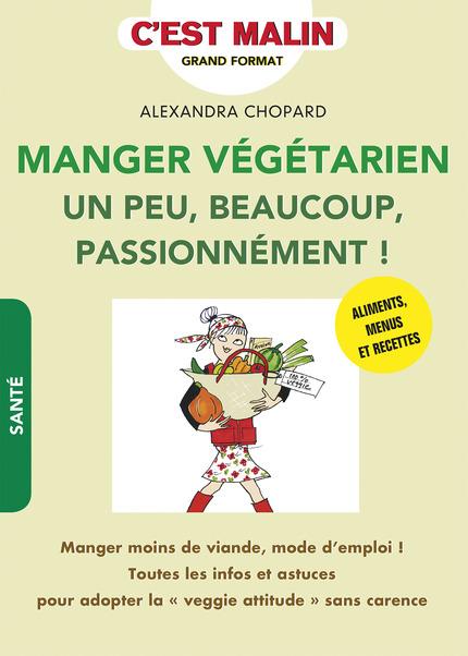 Couv du livre d'A Chopard Manger végétarien