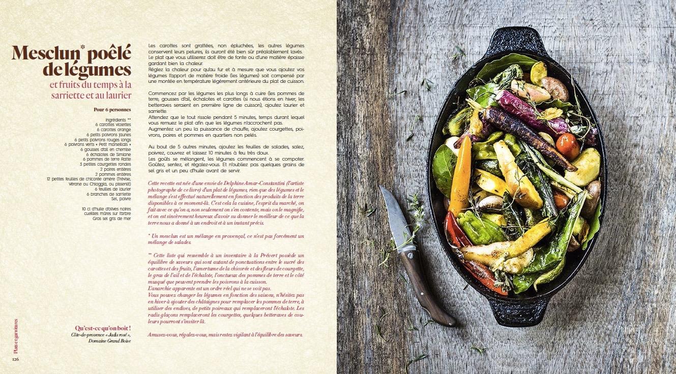Mesclun poele aux legumes