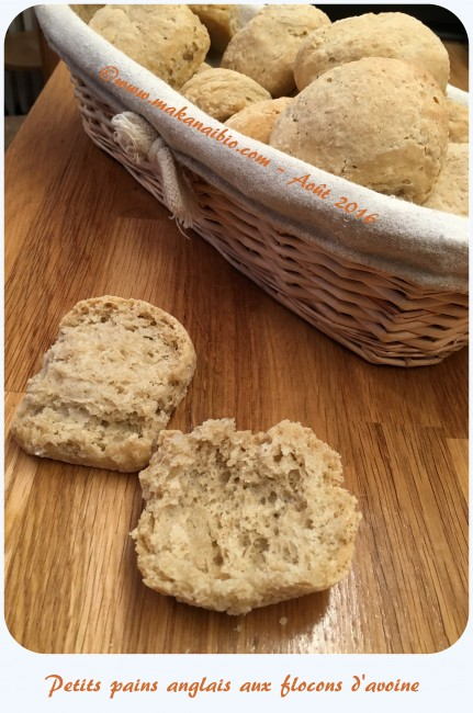 Petits pains anglais aux flocons d'avoine