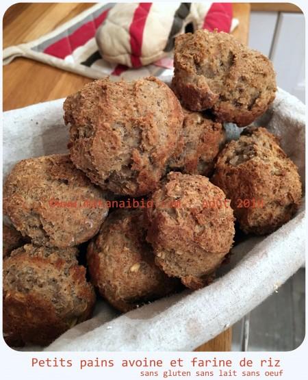 Petits pains avoine et farine de riz levure fraîche (2)