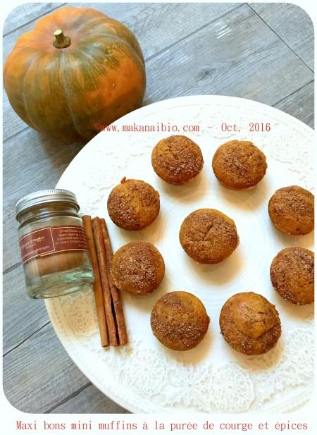 Muffins au potiron et épices