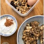 Ingrédients cookies aux flocons d'avoine