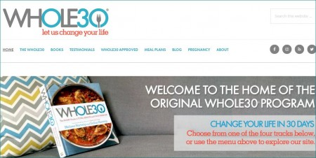 Capture Whole30(R) site