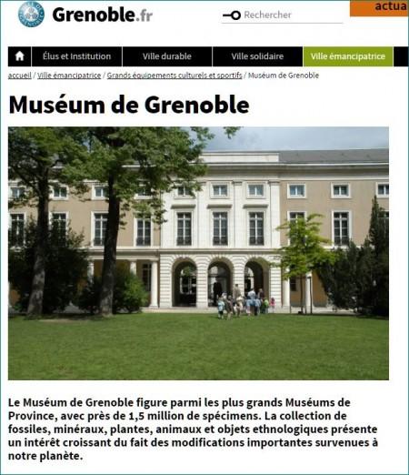 Capture site du Muséum de Grenoble