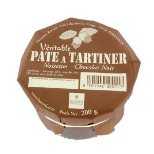 Pâte à tartiner noisette et chocolat noir sans huile de palme et sans produit laitier