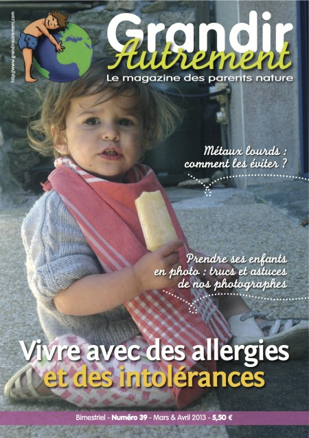 Couverture du Grandir Autrement n°39, consacré aux intolérances et allergies alimentaires