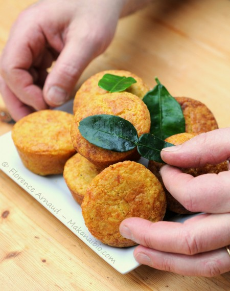 Muffins sans gluten, au manioc et au fromage