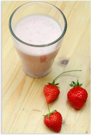 Lait d'avoine aux fraises