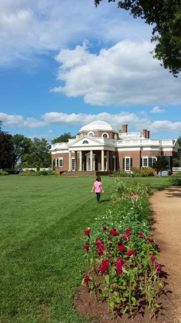 Derrière le manoir de Jefferson, Monticello, Virginia