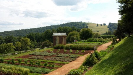 Vue du potager de Thomas Jefferson, Monticello, Viriginia