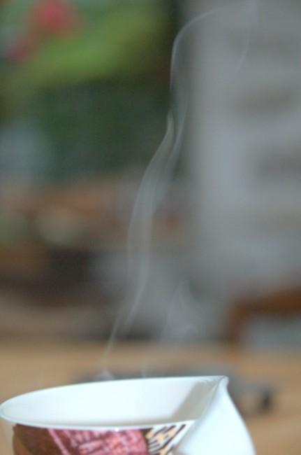 Vapeur sur ma tasse de café