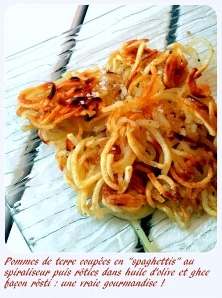 Pommes de terre spiraliseur façon rösti