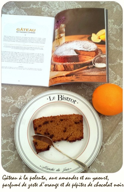 Gâteau polenta amandes yaourt orange chocolat
