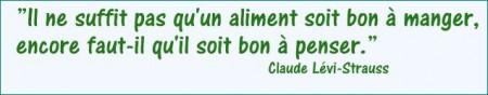 Bon à penser Claude Lévi Strauss