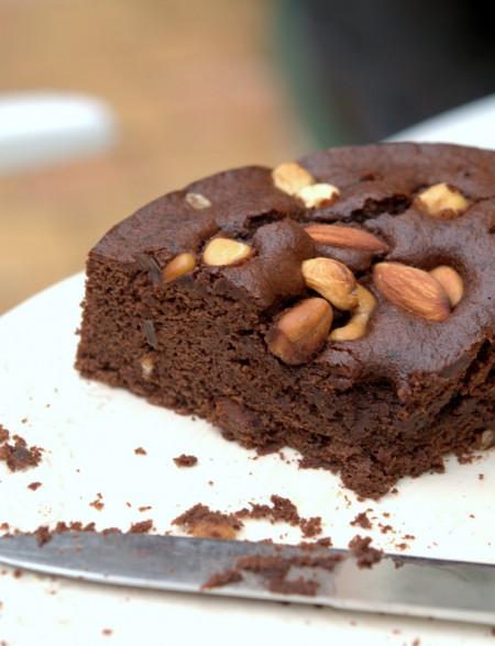 Le brownie de Marie, sans gluten et sans lait