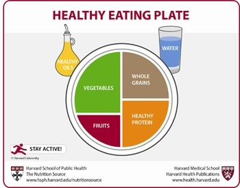 Healthy plate selon Harvard