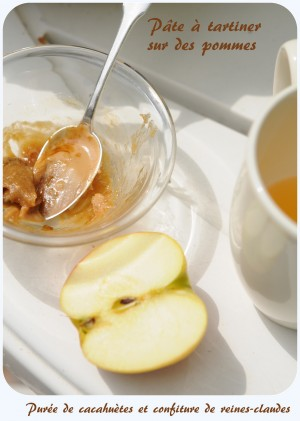 Pomme et pâte à tartiner