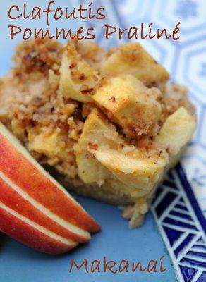 Clafoutis pommes praliné