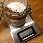 Pesée des ingrédients pour mix pour muffins maison