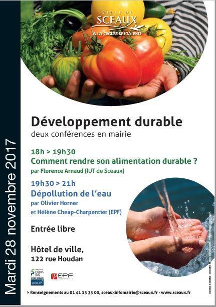 Affiche conférence alimentation durable nov 2017
