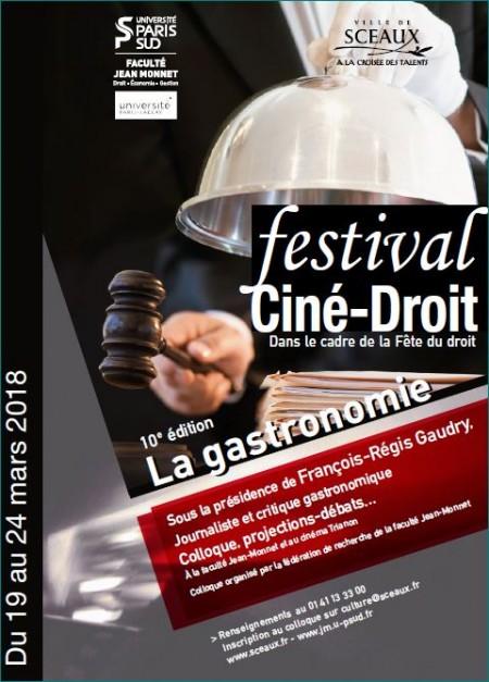 Affiche festival ciné-droit 2018