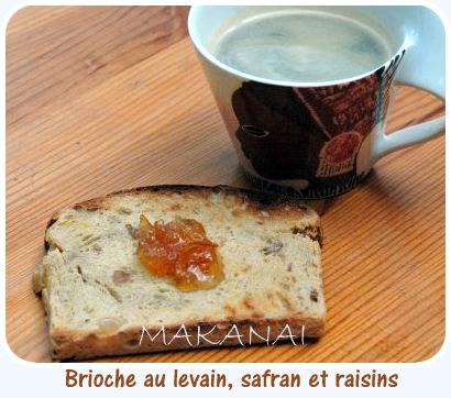 Brioche au levain safran et raisins @makanaibio.com