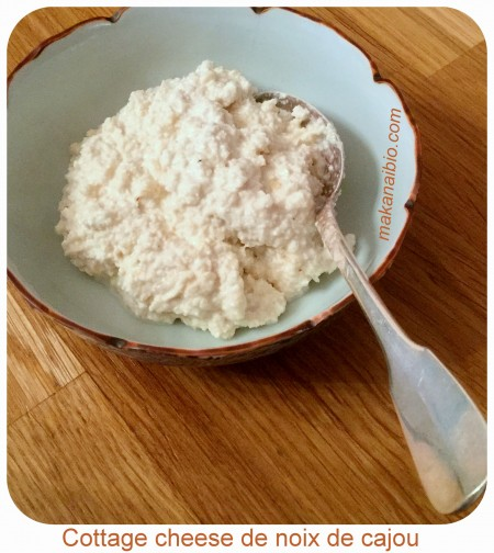 Cottage cheese de noix de cajou