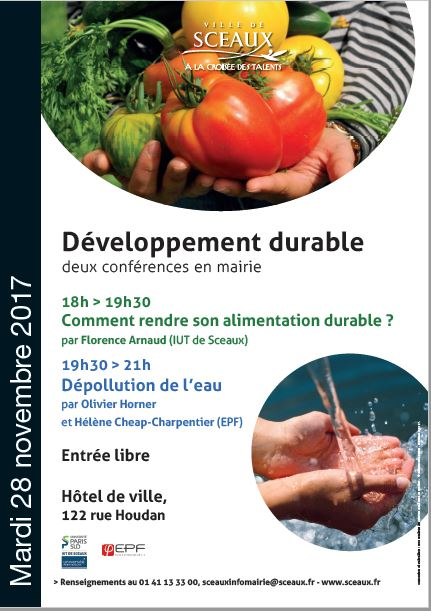 Affiche conference alimentation durable Florence ARNAUD nov 2017