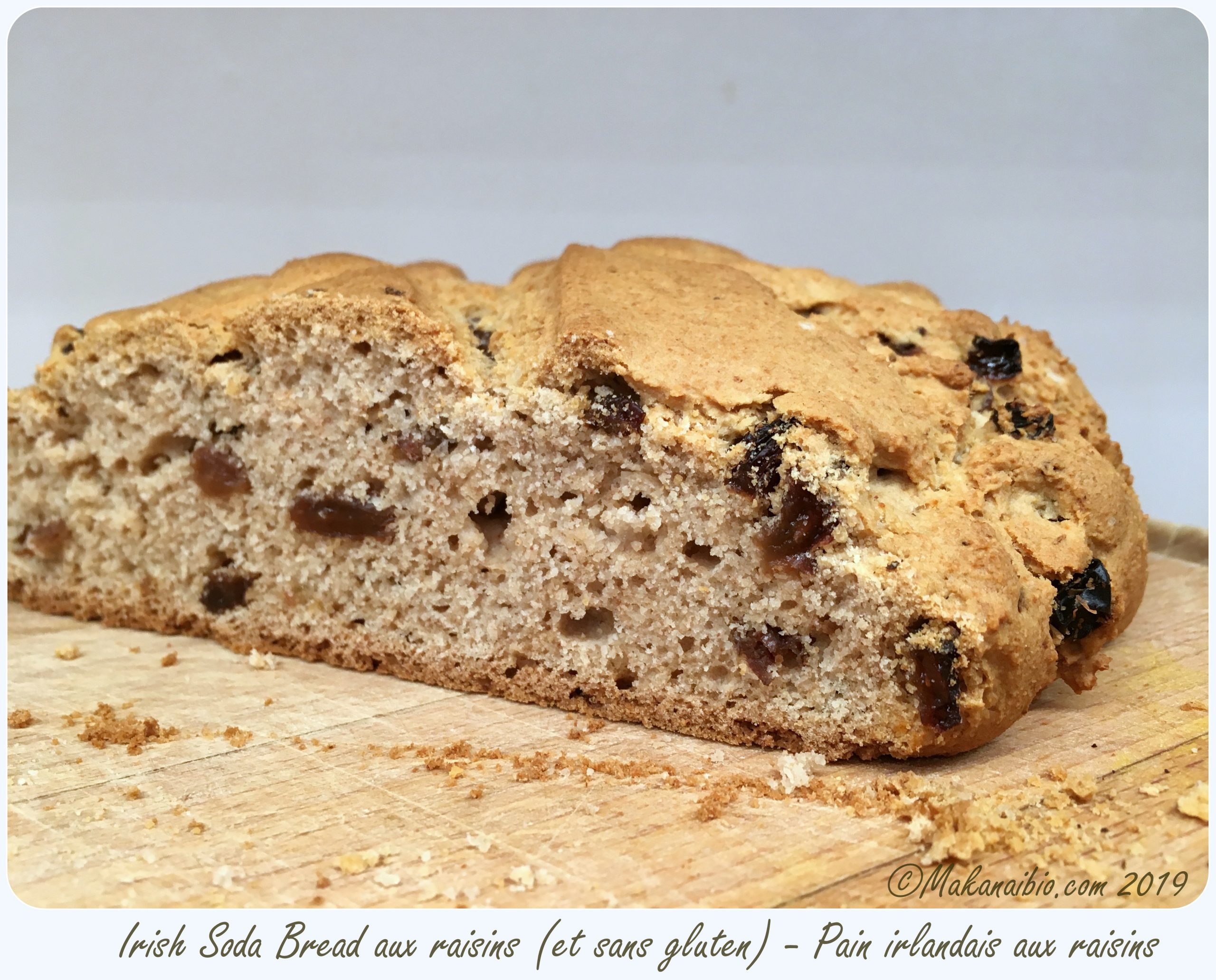 Irish soda bread sans gluten aux raisins