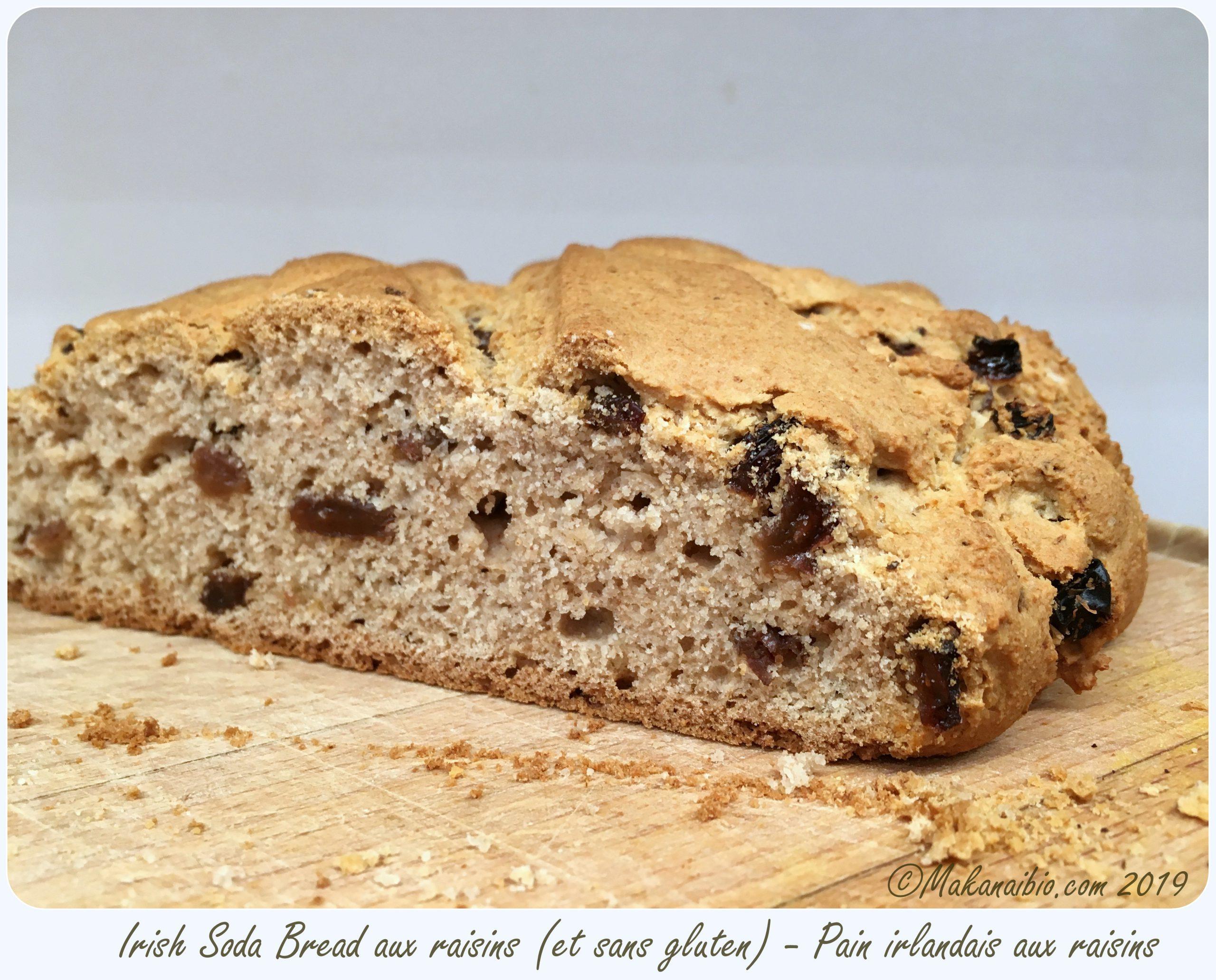 Irish soda bread sans gluten aux raisins